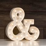 ampersand luminoso