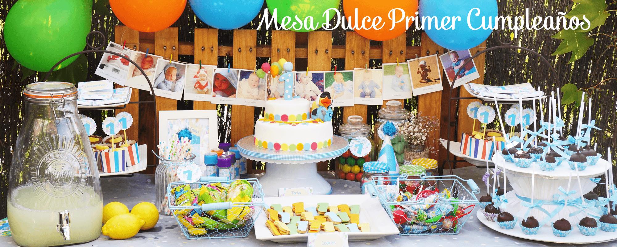 mesa dulce primer cumpleaños