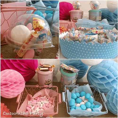 Los recipientes para las chuches en las mesas dulces for Centros de mesa con chuches