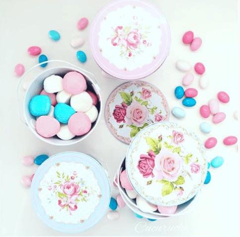 botes para mesas dulces