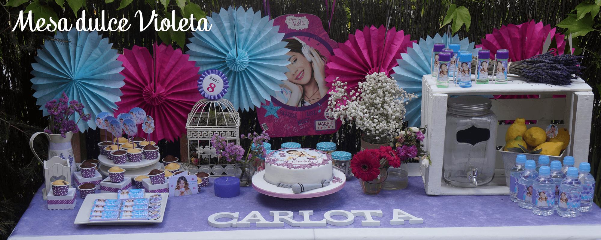 mesa dulce Violeta