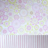 papel decorado flores