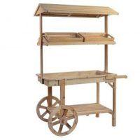 carro de madera para chuches