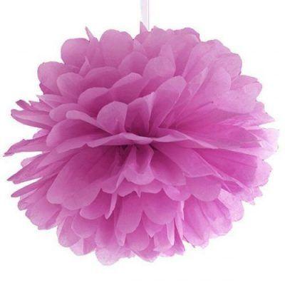 pompon de seda rosa fucsia