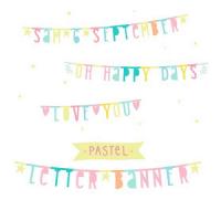 guirnalda letras pastel