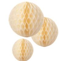 guirnalda bolas de nido de abeja amarilla