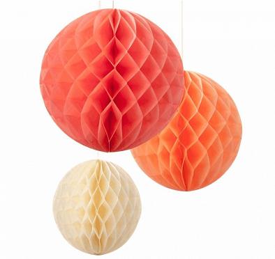 guirnalda nido de abeja naranja