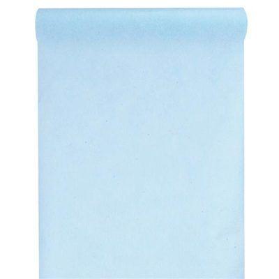 camino de mesa azul