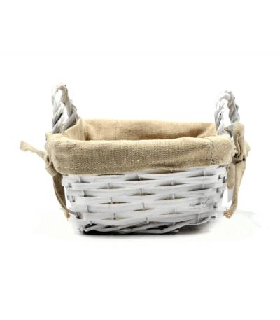 cesta de mimbre con tela
