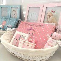 cesta para regalar a los recién nacidos. Baby Shower