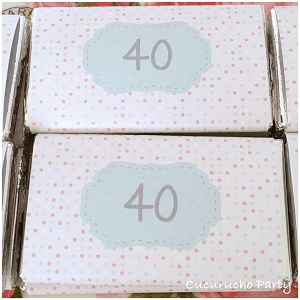 chocolatinas 40 cumpleaños
