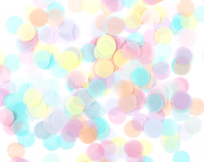 confeti colores pastel