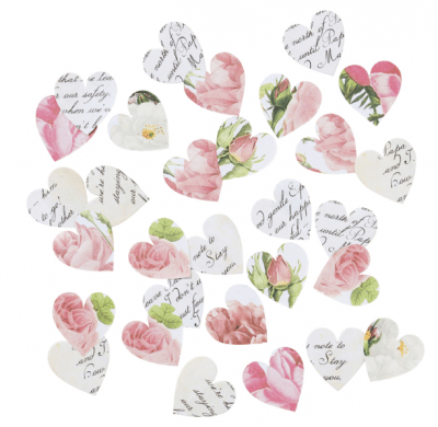 confetti corazones