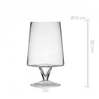 recipiente de cristal para mesas dulces