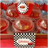 etiquetas, bolas transparentes, etiquetas de mesa