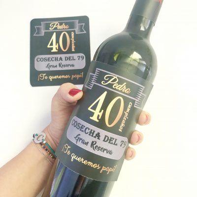 etiquetas botellas de vino personalizadas