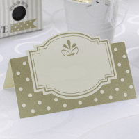 etiquetas de mesa dorada