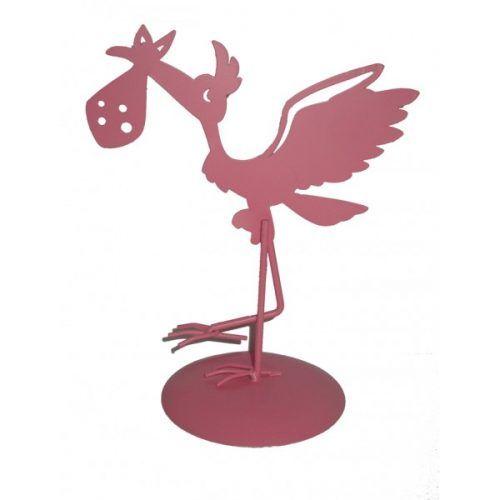 figura-pastel-cigueña-rosa