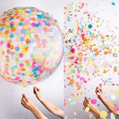 globo burbuja confeti colores
