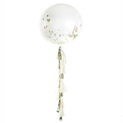 globo gigante con guirnalda tassel
