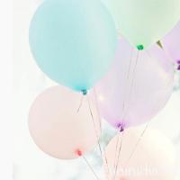 globos colores pasteles