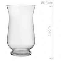 jarrón cristal con pie