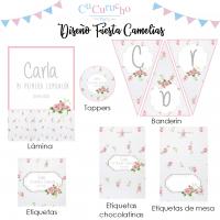 Kit imprimible fiesta flores camelias