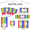 kit personalizado arcoiris fiesta