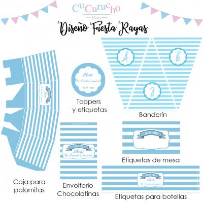 Kit diseño fiesta a rayas