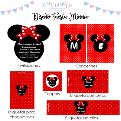 kit imprimible Minnie Mouse
