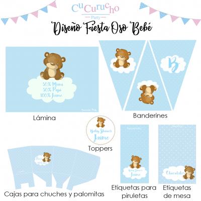 Imprimible fiesta oso