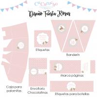 Kit imprimible rosa