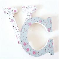 letras decoradas con papeles