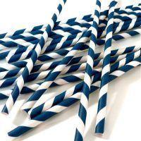 pajitas rayas azul marino