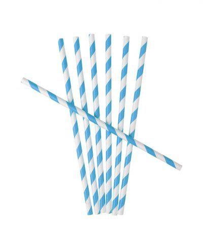 pajitas rayas azules