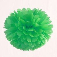 pompon de papel de seda verde