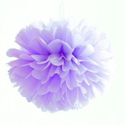 pompon de papel de seda lila