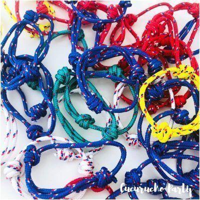Pulseras marineras de colores