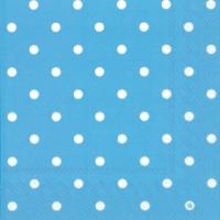servilletas azul con topos