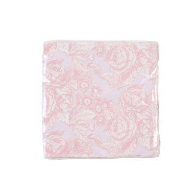 servilletas flores rosas
